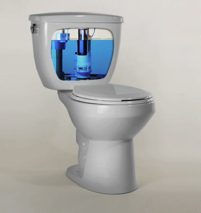 Toilet Bowls with a Dual-Flush System